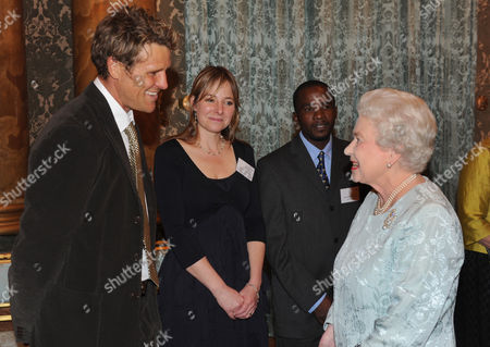 James Cracknell, Dr Alice Roberts and Queen Elizabeth II