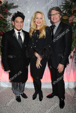 Prince Azim, Jerry Hall and Warwick Hemsley