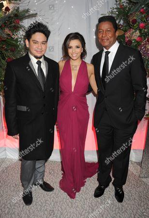 Prince Azim, Eva Longoria and Jermaine Jackson