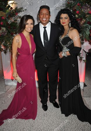 Eva Longoria, Jermaine Jackson and Halima Rashid