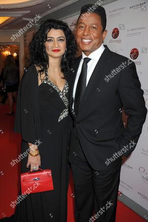 Stock Image of Jermaine Jackson and Halima Rashid