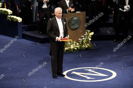 Stock Picture of American Christopher A Sims receives the Nobel Prize for Economics