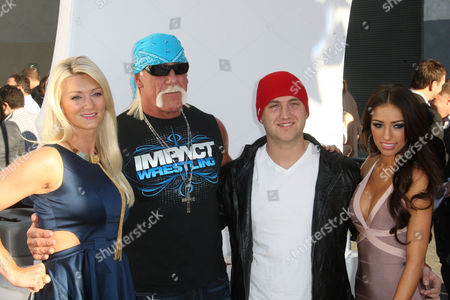 Stock Photo of Jennifer McDaniel, Hulk Hogan, Nick Hogan and girlfriend Breana Tiesi