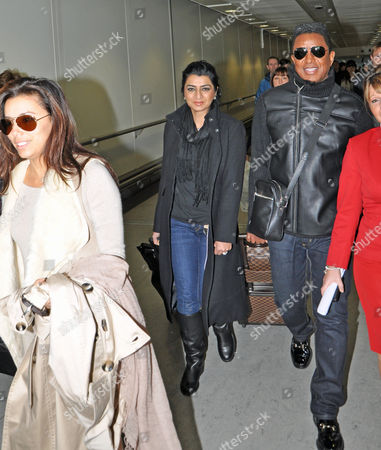 Eva Longoria and Halima Rashid  with  Jermaine Jackson