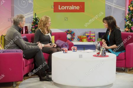 Dr Hilary Jones and Hannah Waterman with Lorraine Kelly