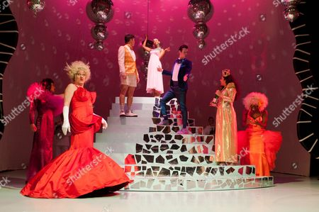 'Cinderella' - Marcus Ellard (as Sugary), Michael Bertenshaw (as the Stepmother), Stephen Hoo (as Don Dini), Ayesha Antoine (as Cinderella), Stephen Lloyd (as Buttons), Shelley Williams (as Queen) and Darren Hart (as Spicy)