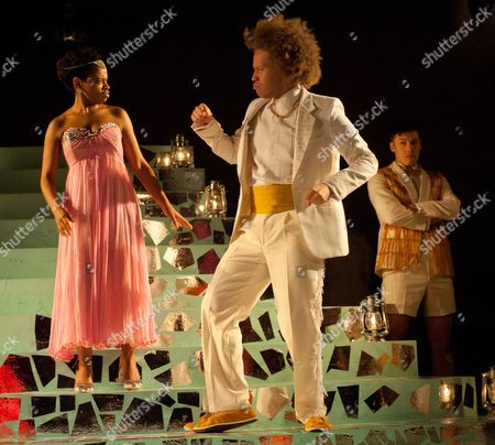 'Cinderella' - Ayesha Antoine (as Cinderella), Craig Storrod (as Prince Leo) and Stephen Hoo (as Don Dini)