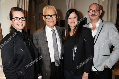 Frances Corner (LCF), Vidal Sassoon, Ronnie Sasson, Tony Glenville (LCF)