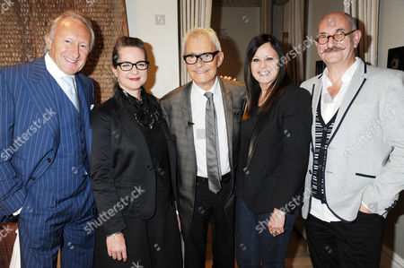 Harold Tillman, Frances Corner (LCF), Vidal Sasson, Ronnie Sasson, Tony Glenville (LCF)