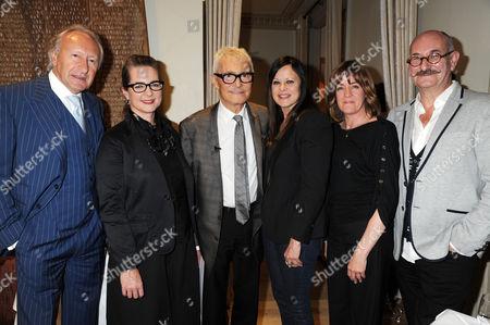 Harold Tillman, Frances Corner (LCF), Vidal Sasson, Ronnie Sasson, Guest, Tony Glenville (LCF)
