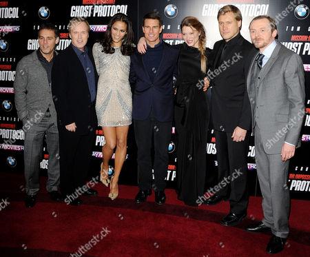 The Cast of 'Mission Impossible Ghost Protocol': Paula Patton, Tom Cruise, Lea Seydoux, Samuli Edelmann, Simon Pegg