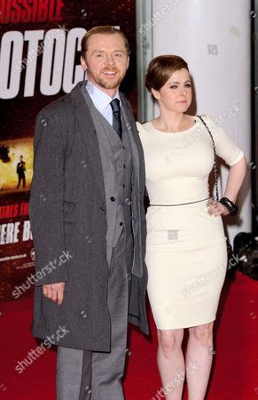 Stock Photo of Simon Pegg and Maureen McCann