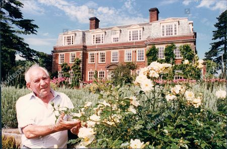 Jack Stringer Former Gardener To Prime Minister Harold Macmillan. Stringer Is Shown Here On Grounds Of The Macmillan's Birch Grove Home 1993.