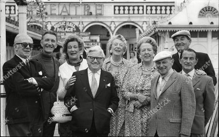 The Cast Of Music Hall At The Palace Pier Brighton 1973. Arthur Lane Nat Jackley Sandy Powell Elsie Waters Doris Waters Bob Pearson Alf Pearson Barbara Sumner And Leslie Sarony.