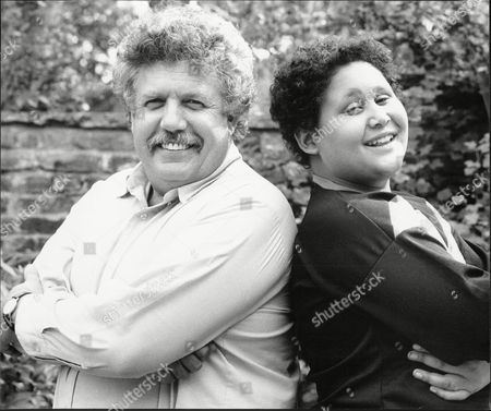 Colin Welland Writer And Actor With His Son Chrissie Welland 1986.