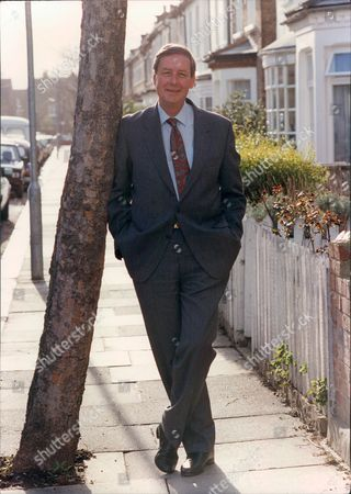 Editorial picture of Bob Wellings Former Presenter Of Tv Show That's Life Leaning On Tree 1991.