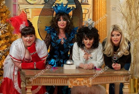 Leanne Jones, Vicki Michelle and Lesley Joseph with Holly Willoughby