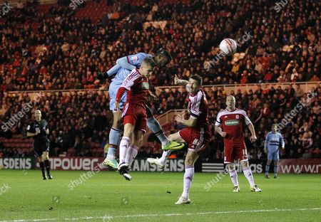 Frederic Piquionne of West Ham United scores the opening goal of the game