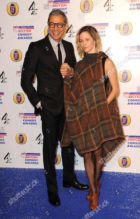 Jeff Goldblum and Emily Livingston