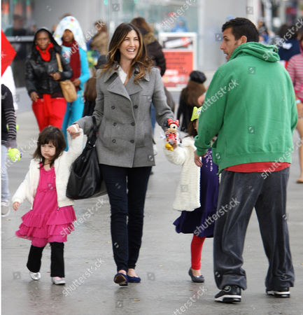 Adam Sandler, Jacqueline Samantha Titone and daughters, Sadie and Sunny