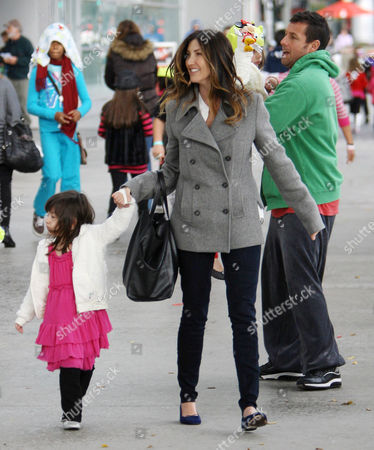 Editorial image of Adam Sandler and family out and about at the Staples Center, Los Angeles, America - 17 Dec 2011