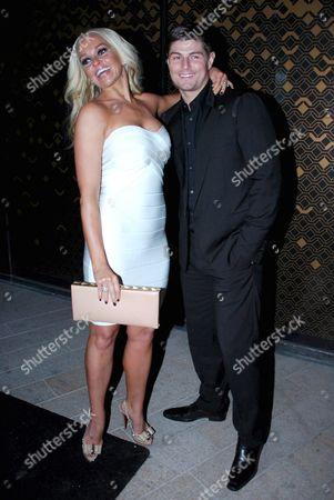 Jennifer Ellison and her husband Robbie Tickle.