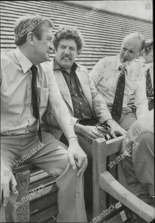 Colin Welland Actor And Writer With Peter West And Jim Laker Cricketers 1979.