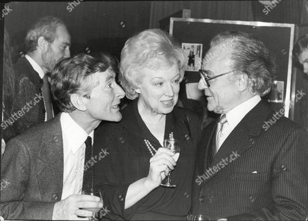 Kenneth Williams June Whitfield And Kenneth Connor Comedy Actors At Bbc Radio Christmas Party 1979.