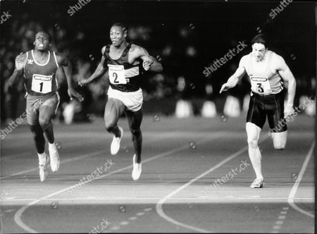 Linford Christie And Allan Wells Compete In Men's 100m At Crystal Palace 1986.