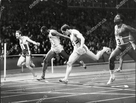 Alan Wells Comes Second To Earl Tulloch In Men's 200m At Crystal Palace 1982.