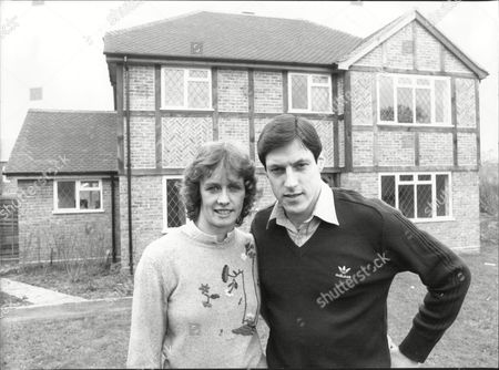 Alan Wells Athlete With Wife Margot Wells Outside Their Home In Surrey 1982.