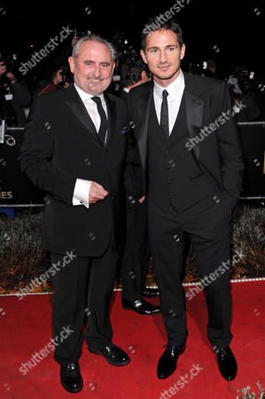 Frank Lampard with father Frank snr