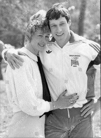 Allan Wells Athlete And Wife Margot Wells 1984.