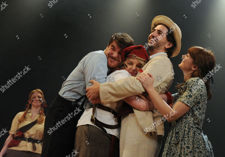 'Swallows and Amazons' - Celia Adams as Nancy, Stewart Wright as Roger, Katie Moore as Susan, Greg Barnett as Flint and Sophie Waller as Peggy