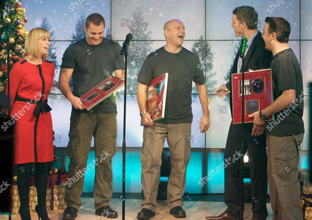 The Soldiers - Sergeant Major Gary Chilton, Lance Corporal Ryan Idzi and Sergeant Richie Maddocks with Dan Lobb and Kate Garraway