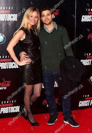 Stock Image of Jerry Ferrara and Alexandra Blodgett