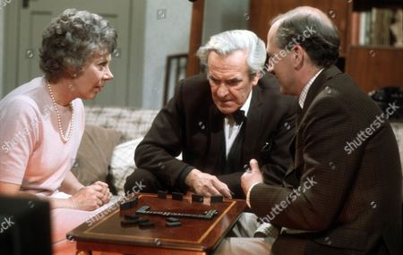 Noel Dyson as Kitty, John Le Mesurier as Geoffrey and  Bernard Hepton as Charles