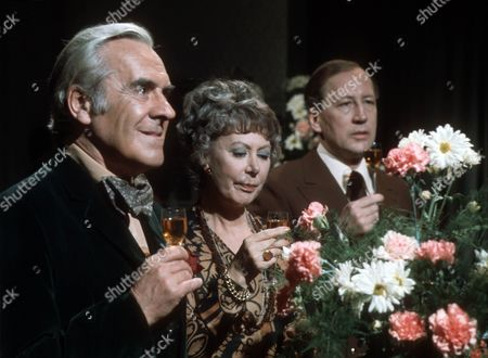 Stock Image of John Le Mesurier as Geoffrey, Noel Dyson as Kitty and Bernard Hepton as Charles