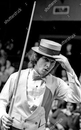 Kirk Stevens at Embassy World Snooker championships at Sheffield Crucible Theatre