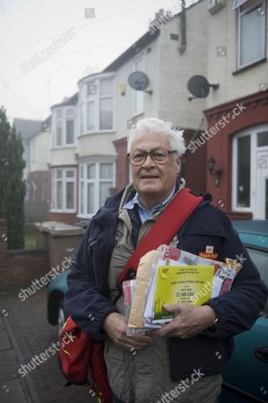 Editorial picture of The Luton Home Of The Suicide Bomber In The Swedish Attack Taimour Abdulwahab Al-abdaly. Local Postman John Young Picture By Glenn Copus