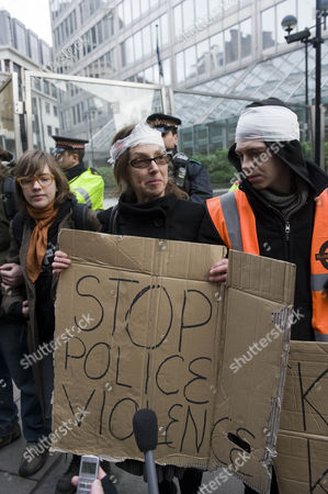 Susan Meadows Condemned The excessive Violence Of Officers At Last Thursday's Tuition Fees Protest In London When Her Son Alfie Was Injured.