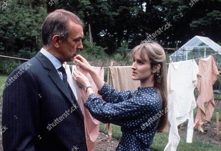 Roy Marsden as Commander Adam Dalgliesh and Rebecca Saire as Theresa Nolan