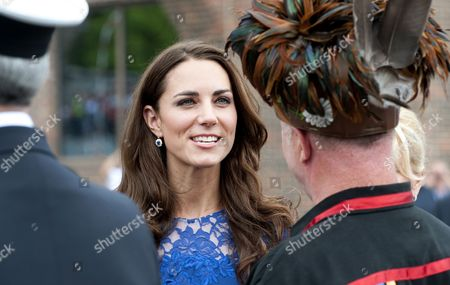 Stock Picture of Catherine Duchess of Cambridge and Konrad Sioui