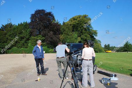 Behind the scenes, filming, at Highclere Castle, Paul Heiney