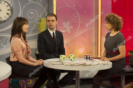 Natasha Courtney Smith and Sam Delaney with Nadia Sawalha