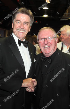 Cliff Thorburn with Dennis Taylor