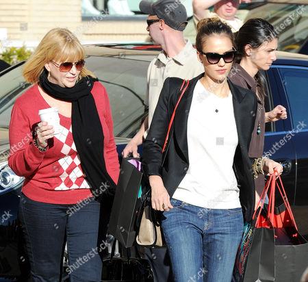 Catherine Alba and Jessica Alba