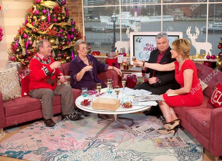 Fred Talbot and Susan Brookes with Eamonn Holmes and Ruth Langsford