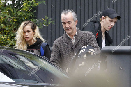 Stock Photo of Alice Dellal with guest and Sullivan Legat-Cayless