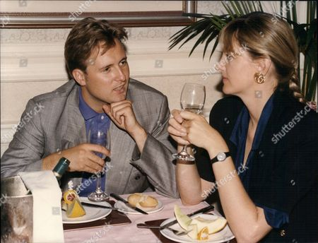 Gary Webster Actor From Tv Series Minder Lunching With Daily Mail Writer Sara Barrett 1991.